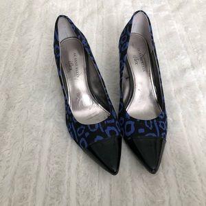 Anne Klein- Blue and Black Printed Heels- Size 7.5